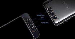 Samsung Galaxy A80 sở hữu hệ thống camera trượt xoay ấn tượng