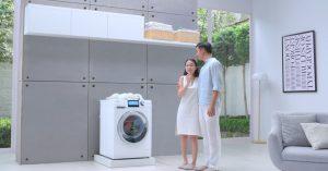 Máy giặt lồng ngang AQUA Inverter, đổ đầy 1 lần, giặt 20 lần