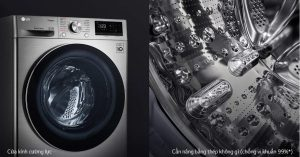 Máy giặt LG Inverter 8,5kg FV1408S4V thiết kế hiện đại, làm tôn lên không gian ngôi nhà của bạn