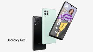Samsung Galaxy A22 nổi bật với thiết kế trẻ trung, nhiều công nghệ hiện đại