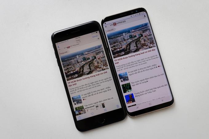 So Sánh Samsung Galaxy S8 Plus vs iPhone 7 Plus