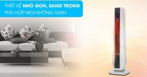 Quạt Sưởi Korihome EHK362 thiết kế tinh tế, dùng gốm làm vật dẫn nhiệt an toàn, ít tiêu hao điện năng