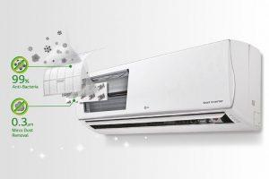 Công nghệ tinh lọc không khí cùng bộ cảm biến bụi mịn PM 1.0 trên dòng máy lạnh APF của LG là gì?