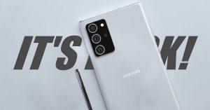 5 điểm nổi bật trên Galaxy Note 20