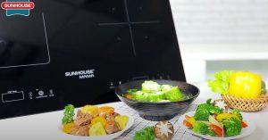 Bếp đôi điện từ Sunhouse Mama SHB9100 sự lựa chọn hoàn hảo cho gia đình bạn